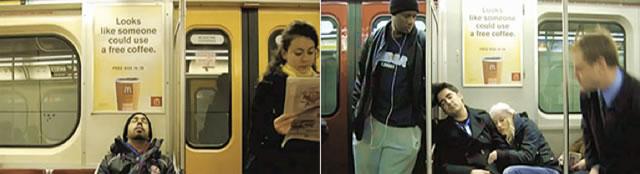 акция в вагонах метро
