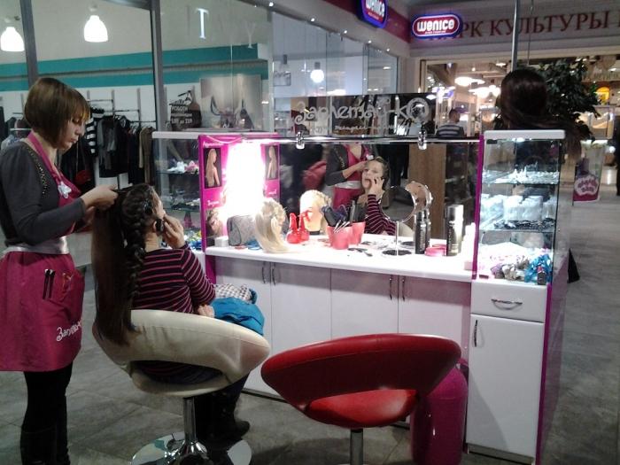 Причёски в торговых центрах