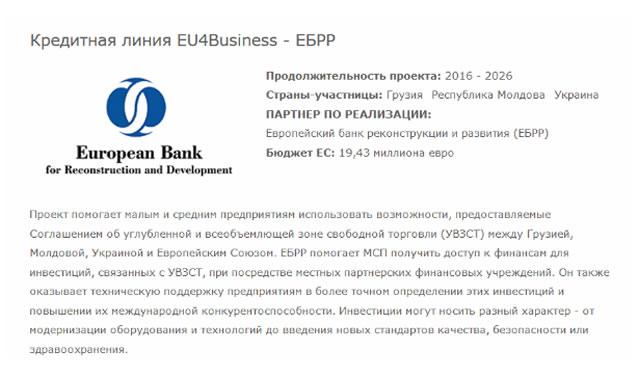 ЕБРБ привлечение инвестиций в действующий бизнес