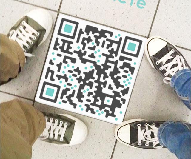 Наклейка на полу