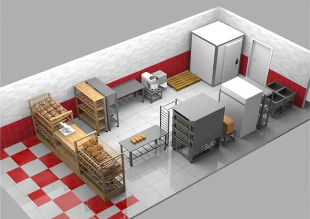 Проект-план помещения производства пекарни
