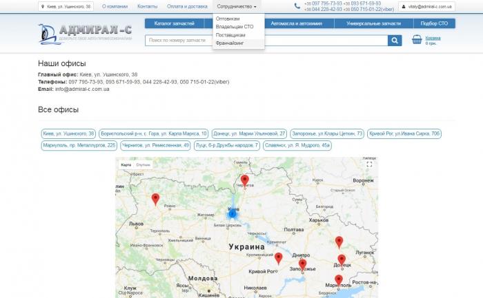 Глобальный интернет магазин автозапчастей с франчайзинговой сетью