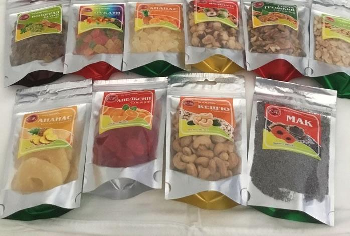 Бизнес по фасовке сухофруктов, орехов, цукатов, драже, кранчи, бакалеи, кофе