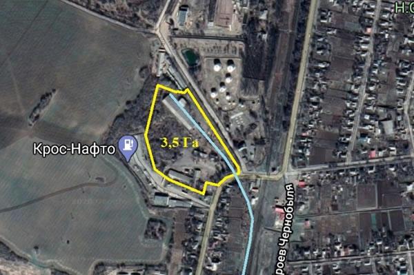 База в Городище, с ж.д. путями под элеватор